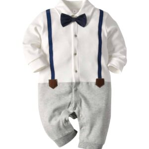 Baby Boy Jumpsuit, Bow Tie  Jumpsuit, Bow, Bow Tie