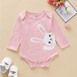 Baby Girl Rabbit Print Bodysuit