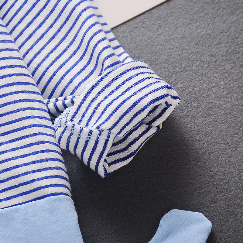 Baby Boy / Girl Elegant Style Stripe Design Long-sleeve Jumpsuit - Blue