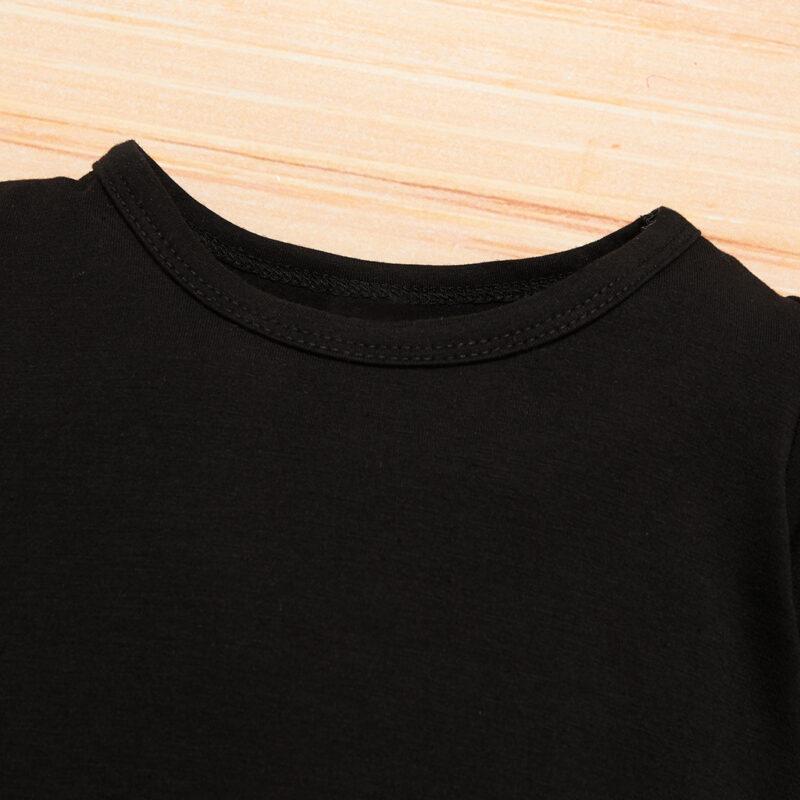 Baby Boy Newborn Cotton Tattoo Print Long-sleeve Jumpsuit - Black