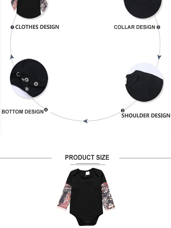 Toddler Tattoo Sleeve T Shirt Cotton Tees Tops