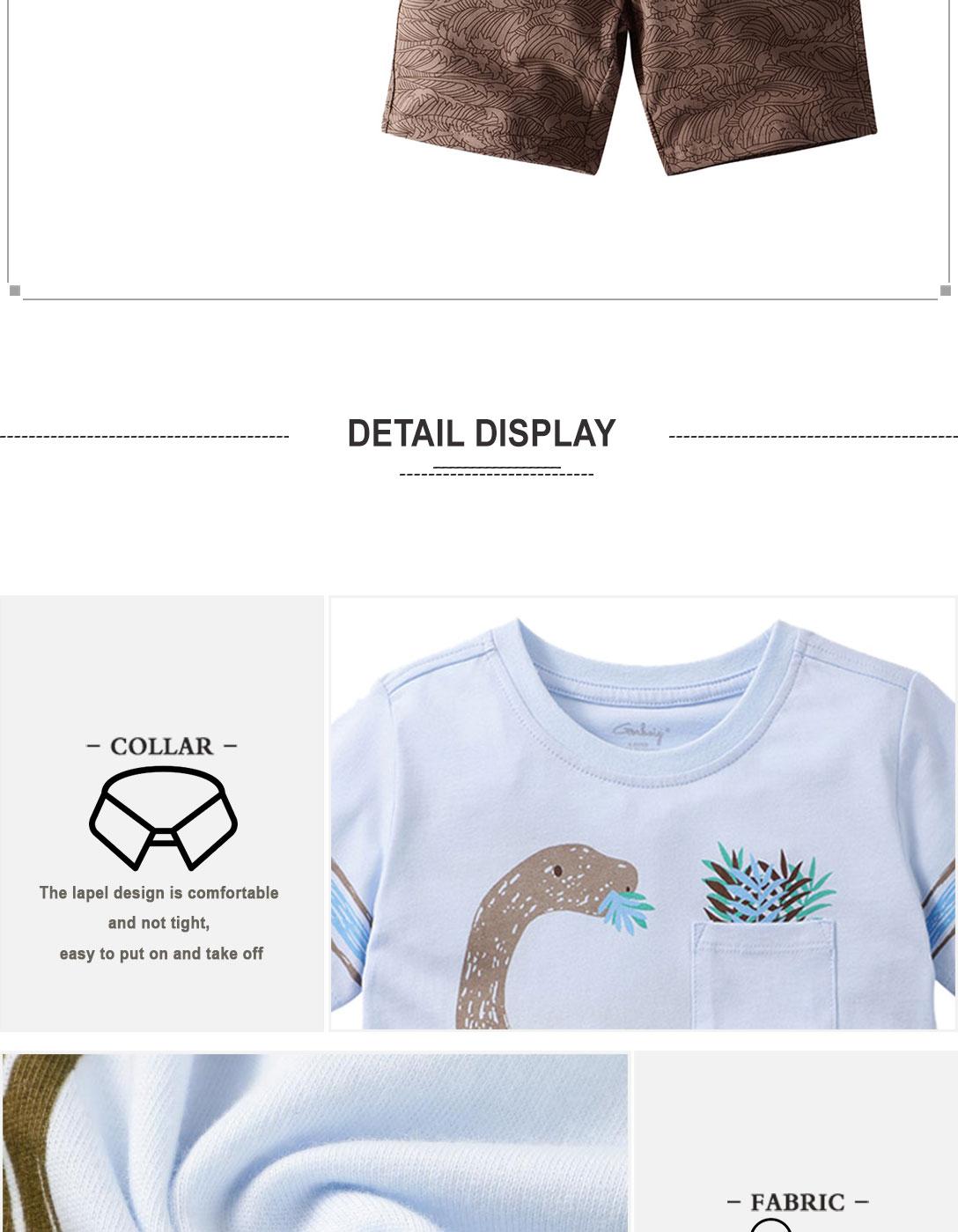 Summer Boy Clothes T-Shirt And Shorts (dinosaur)