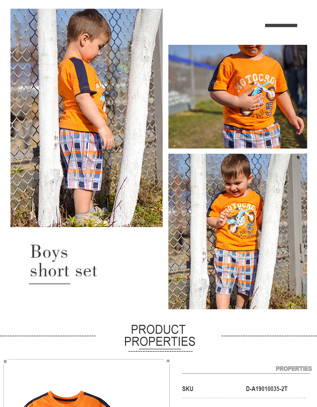 Summer Boy Clothes T-Shirt And Shorts (No.5 bike)