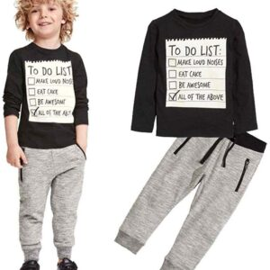 Boys 2 Pieces Set Boys Cotton Clothing Set Fashion