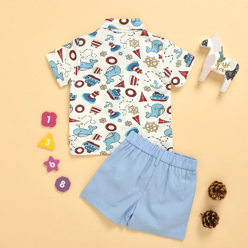Animal pattern Bow Tie Kids T-Shirts And Shorts