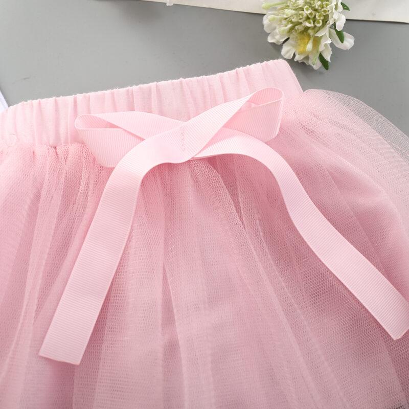 Baby Girl Rabbit pattern 2PCs Romper Top+Tulle Dress