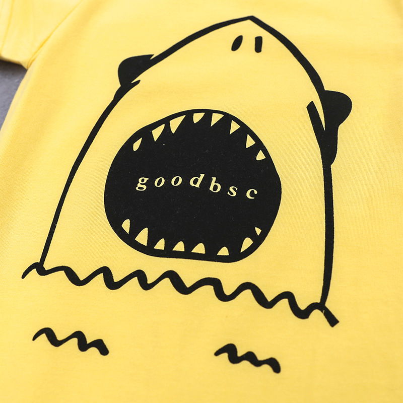 Cotton baby jumpsuit baby clothes Baby one Piecess Suits Cartoon big shark pattern
