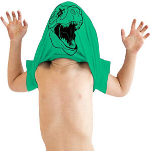 Boys' short sleeve T-shirt summer mask cartoon dinosaur pattern