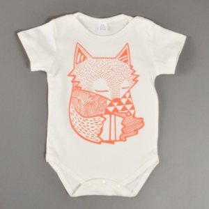 Boy Clothes Newborn Baby bodysuits creeper shorts sleeve Cartoon fox pattern