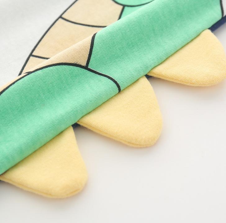 Newborn Baby Boy Girl Jumpsuit Cotton One-Piece Bodysuit Clothes Outfits cartoon dinosaur pattern design element