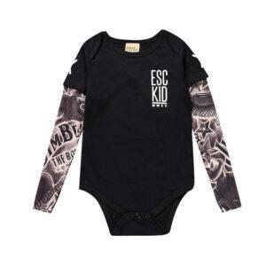Toddler Tattoo Sleeve T-Shirt Cotton Tees Top (ESC Print)