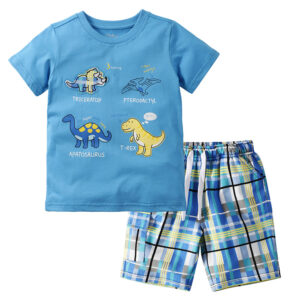 Summer Boy Clothes T-Shirt And Shorts (cartoon dinosaur)