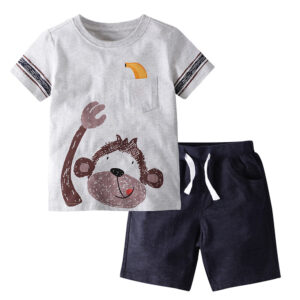 Summer Toddler Boy Clothes T-Shirt And Shorts (Monkey Shirt)