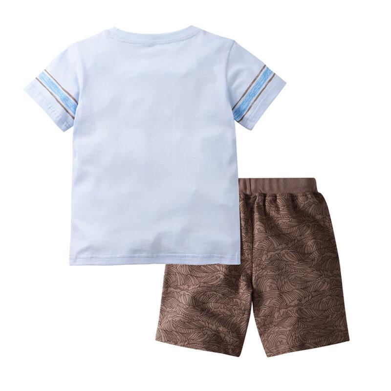 Summer Boy Clothes T-Shirt And Shorts (Dinosaur Shirt)