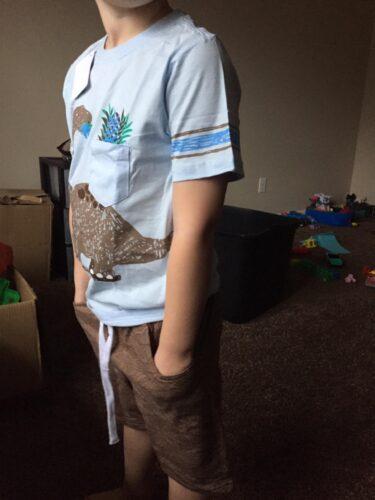 Summer Boy Clothes T-Shirt And Shorts (Dinosaur Shirt) photo review