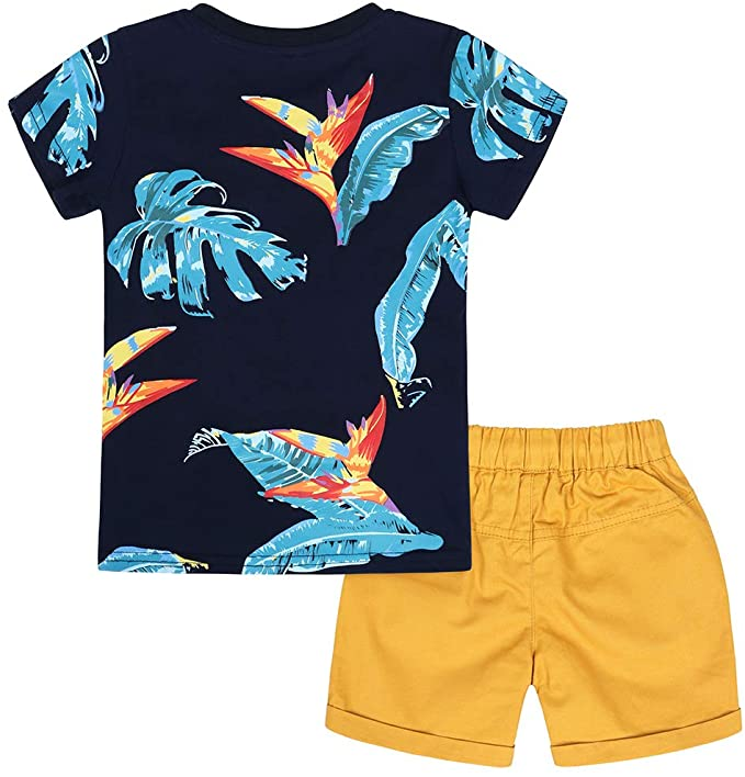 Baby Summer Outfits Toddler Kids Shorts Sets Egg Print