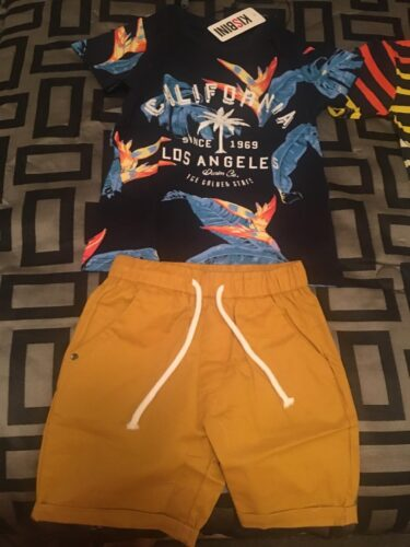 Summer Boys Clothes Cotton Short Tee and Shorts photo review