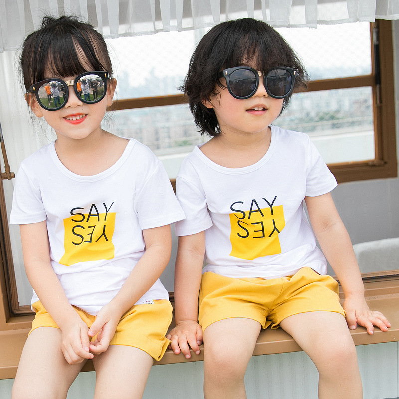 Family Wear Summer T-shirt Family Wear Casual 4 People Suit
