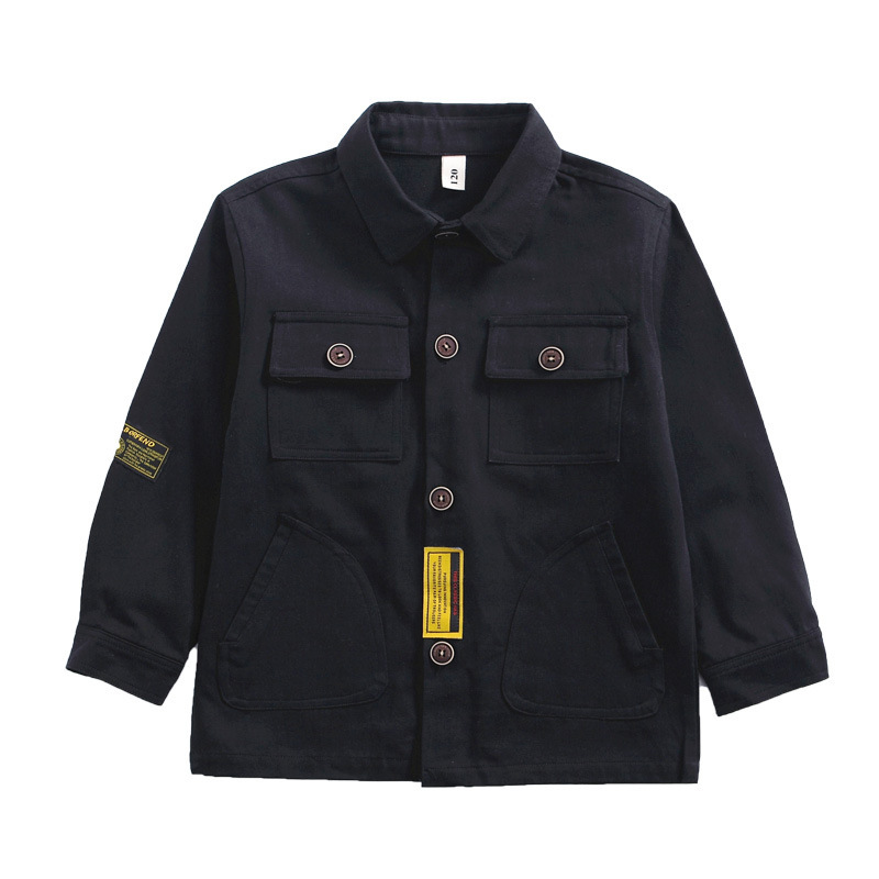 Kids Long-Sleeved Double Pocket Tooling Style Shirt