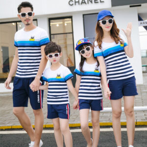 Summer 2020 parent-child t-shirt shorts suit