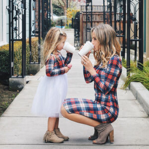 Summer 2020 Family Outfit Mother And Daughter Dress (Lattice)