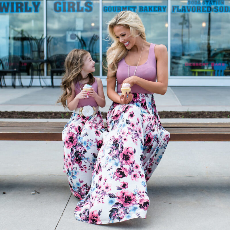 Summer Family Outfit Mother And Daughter Dress