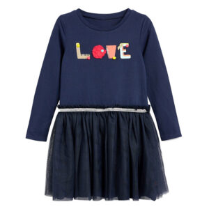 Toddler Girls Dresses Short Sleeve (LOVE,1189)