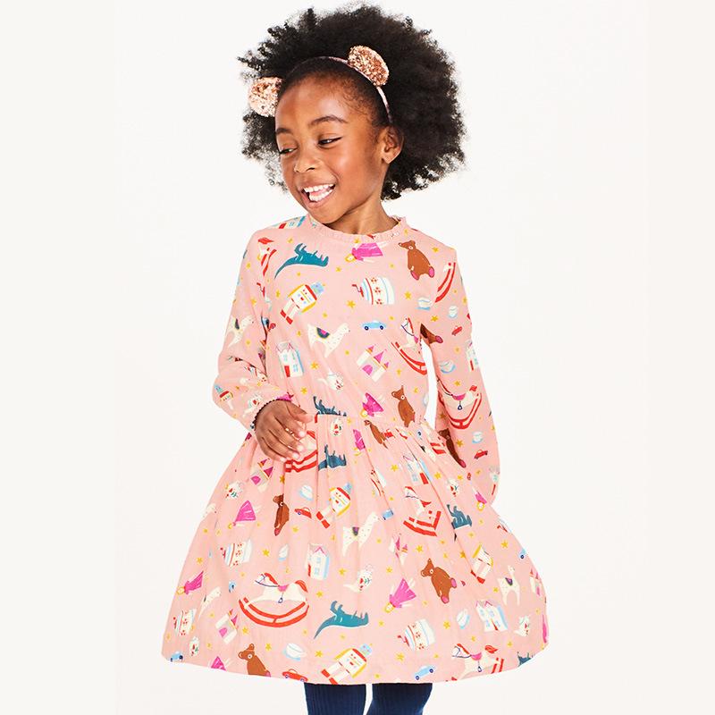 Toddler Girls Dresses Short Sleeve (1158)