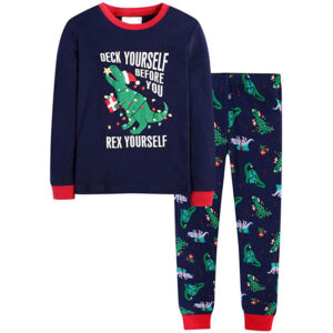 Boys Christmas Pajamas Cotton Sleepwear 2 Piece PJS