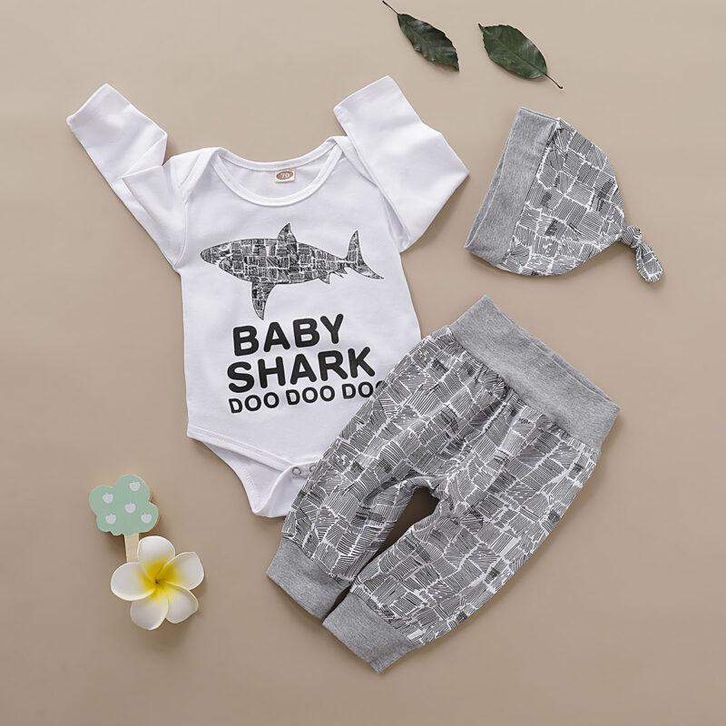 Toddler Long Sleeve T-Shirt Cotton Tees Top (Baby Shark Doo)