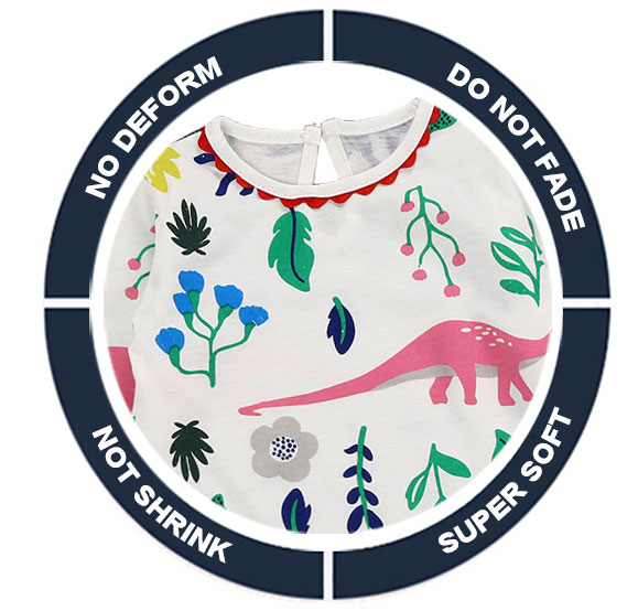 Toddler Girls Dresses Long Sleeve (dinosaurs)