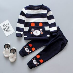 Baby / Toddler Lovely Bear Striped Sweatshirt and Pants Set