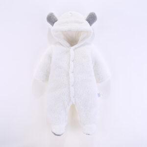Baby Boy / Girl 3D Bear Design Winter Hooded Jumpsuit