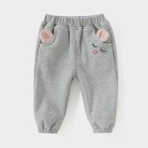 Baby / Toddler Girl Adorable Cartoon Decor Trouser