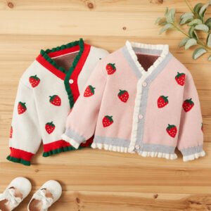Baby Girl Sweet Strawberry Sweaters