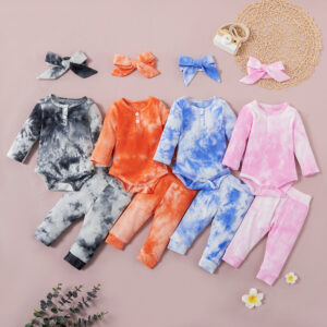 Baby Girl Casual Tie dye Sets