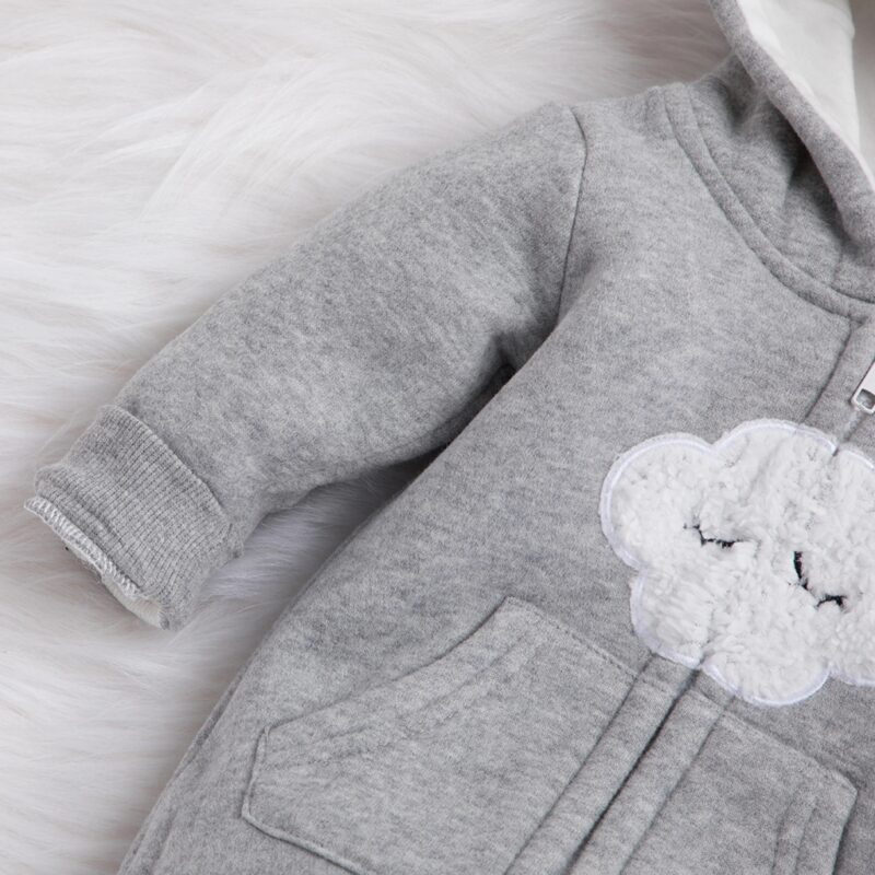 Baby Adorable Cloud Hooded Jumpsuits