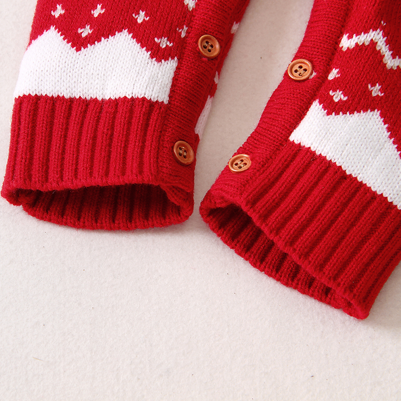 Baby Christmas Elk Knitted Jumpsuits