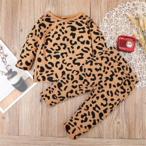 Baby Unisex Leopard Sets