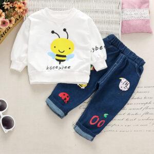 Baby Boy Bee Print Sets