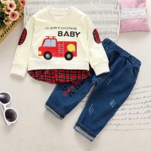 Baby Boy Plaid Sets