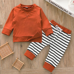 Baby Unisex Casual Striped Sets