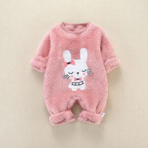 Baby Adorable Animal Fleece Jumpsuit
