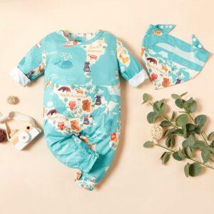 2-piece Baby Stylish Jumpsuit with Bib