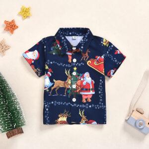 Baby Boy Vacation Santa Claus Shirt