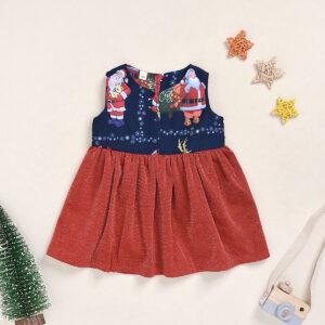 Baby Girl Santa Claus & Elk Sweet Dress