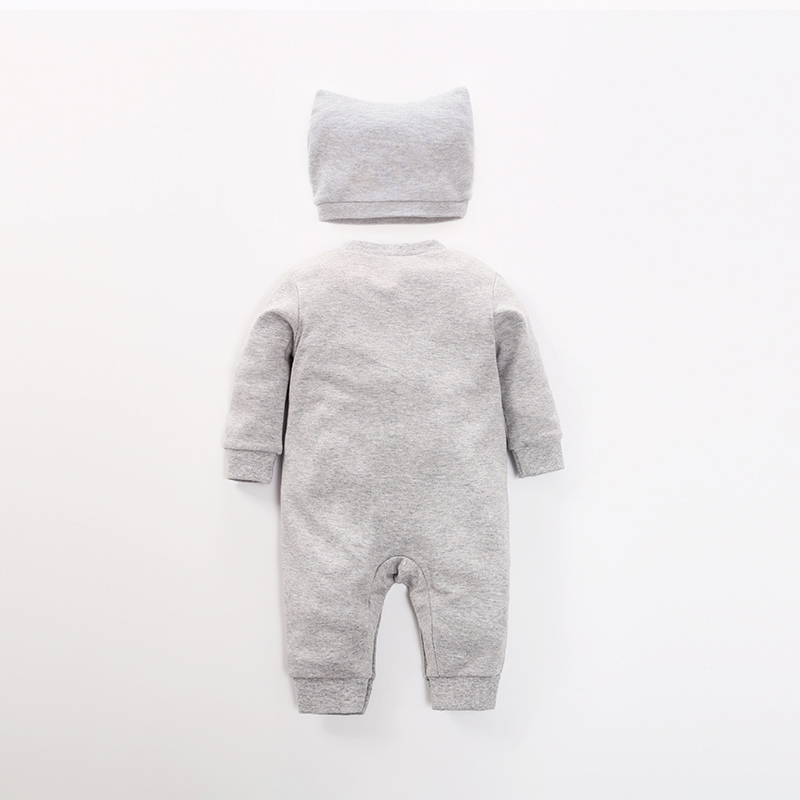 2-piece Baby Animal Jumpsuit with Hat