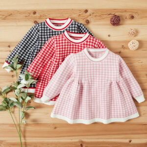 Baby Girl Plaid Elegant Dress