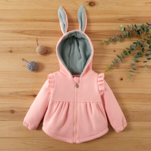 Baby Girl Sweet Rabbit Coat & Jacket