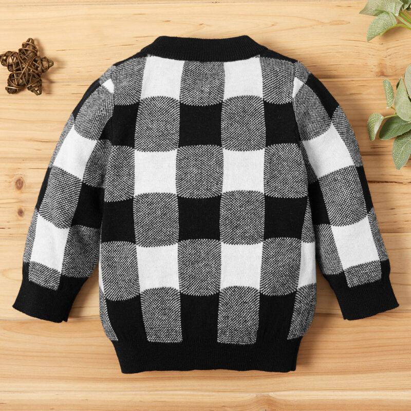Baby Unisex Casual Plaid Sweaters